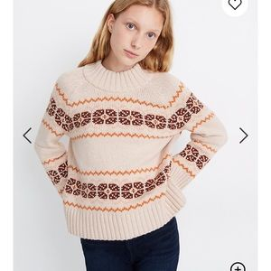 Madewell fair isle mockneck sweater